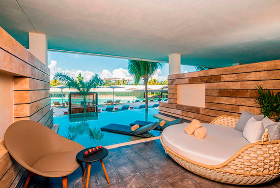 JUNIOR SUITE SWIM OUT - 2 DOUBLE | ESTUDIO PLAYA MUJERES